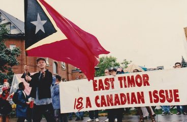 Canadian solidarity with East Timor: a history in images